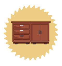 kitchen wooden cabinet vector image