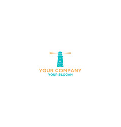 Law firm lighthouse logo design vector