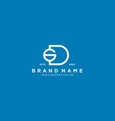 Letter dg logo design vector