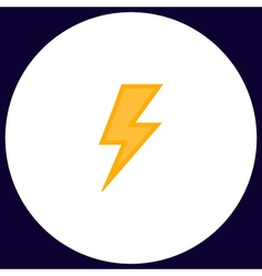 Lighting bolt computer symbol vector