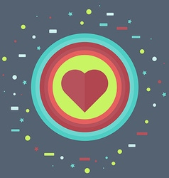 Like Icon with Heart vector image