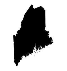 maine me state border usa map solid vector image
