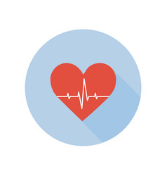 Medical palpitation icon heartbeat healthcare and vector