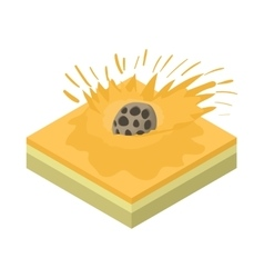 Meteor falling icon cartoon style vector