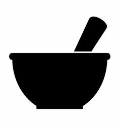 Mortar silhouette icon vector