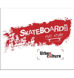 Nyc skateboarding t-shirt vector