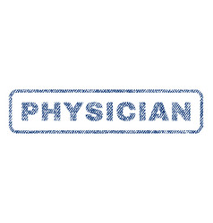 Physician textile stamp vector