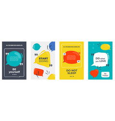 quote frames colored posters with frames and vector image