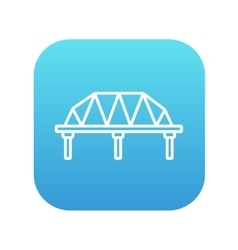Rail way bridge line icon vector