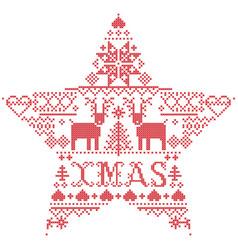 scandinavian christmas pattern xmas vector image