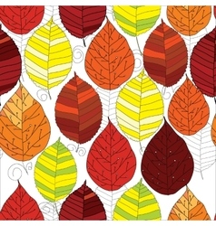 seamless pattern autumn leaf vector image
