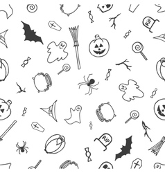 Seamless pattern for Halloween on white background vector