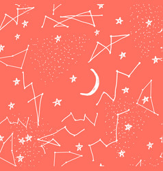 seamless pattern with constellations vector image