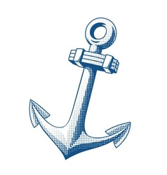 Ship anchor tattoo vector