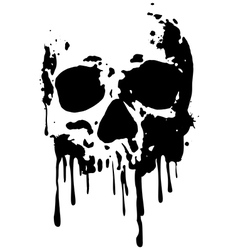 skull blood2 vector image
