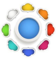 Speech clouds vector image