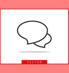 talk bubble speech icon blank empty bubbles vector image