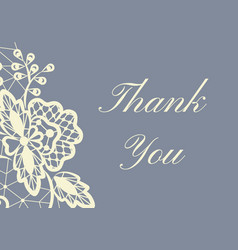 thank you lace card vector image