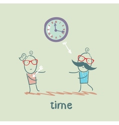 Time kills relationships vector