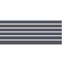 tow view road highway horizontal asphalt marked vector image