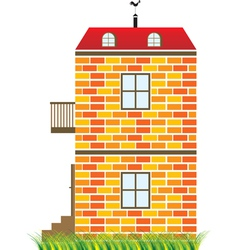 two-story house vector image