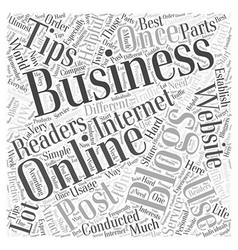Usage of blogging for business Word Cloud Concept vector