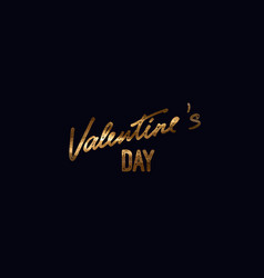 valentines day handwritten lettering label vector image