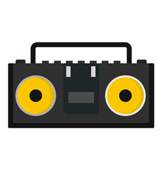 vintage tape recorder for audio cassettes icon vector image