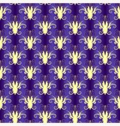 violet seamless floral pattern vector image vector image