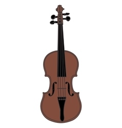 Violin isolated on white background vector