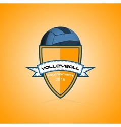 volleyball logo for team and cup vector image