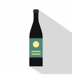 Wine bottle icon flat style vector image