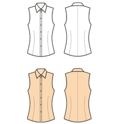 Woman blouse vector