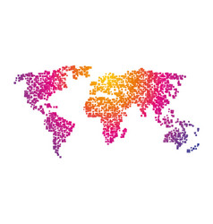 world map squares color gradient vector image
