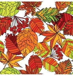 autumn leaf seamless pattern vector image vector image