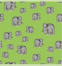 cartoon elephant seamless pattern vector image vector image