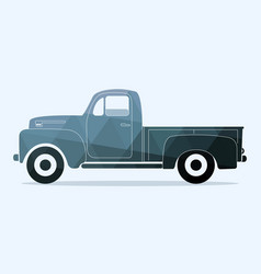 classic pickup truck vector image vector image