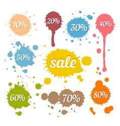 Discount and Sale Labels vector image vector image
