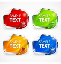 Four stickers vector image vector image