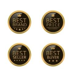 Golden best labels vector image