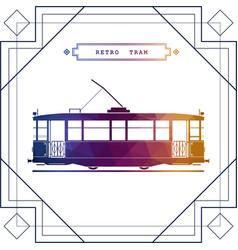 multicolor retro tram car vector image