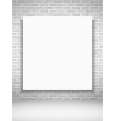 Poster on Brick Wall vector image vector image