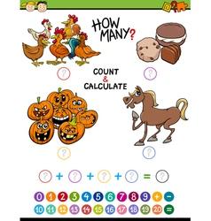 preschool math educational activity vector image vector image