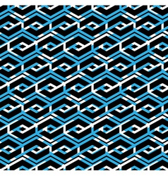 Colorful geometric overlay seamless pattern vector image