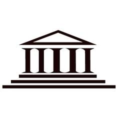 columns ancient historic building vector image vector image