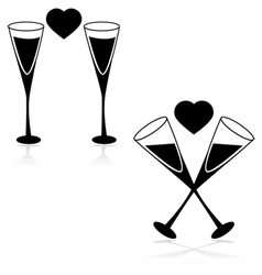 Drinks and love vector image vector image