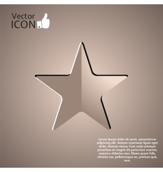 Icon on the Background vector image vector image