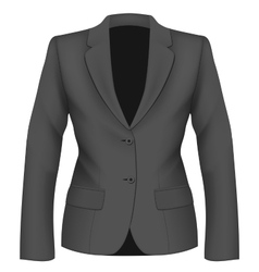 Ladies black suit jacket vector image vector image