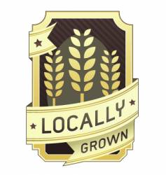 locally grown package label vector image vector image