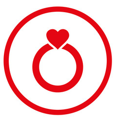 love ring rounded icon vector image